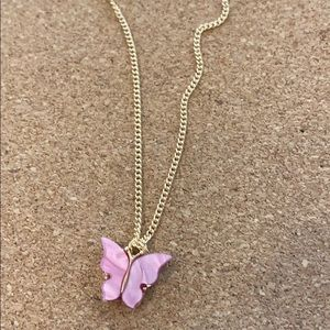 Pink Butterfly Necklace 💖